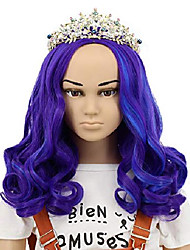 cheap -yuehong long curly purple wig party wig for kid cosplay costume halloween fashion wig(kids)