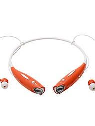 cheap -behind the neck bluetooth headset compatible with mobile devices, smartphones, tablets, iphones, ipods, ipads, and mp3 and mp4 players (orange)