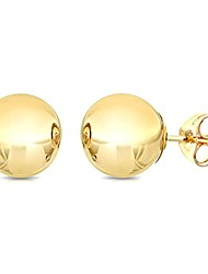 cheap -14k yellow gold ball stud earrings, 4mm