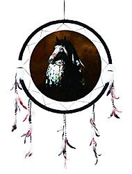 "cheap -dream catcher from 24"" dream catchers – native american dream catcher – made with wooden beads and real feathers – decor / gift (horse) dc24313"