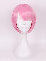 cheap -wig girls ram short pink anime short hairs cosplay party halloween wig