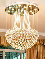 cheap -60 cm Crystal Chandelier Ceiling Light Stainless Steel Electroplated Modern 110-120V 220-240V