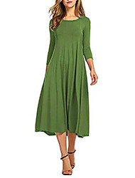cheap -Women's Loose Wine Olive Green Amazon's hot items on the shelves will burst Spot inventory source factory price advantage Black Purple Red Orange Green Sky Blue 3/4-Length Sleeve Solid Color Spring