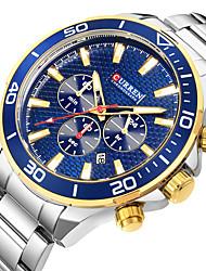 cheap -curren watches men's sports waterproof stainless steel date 3 dials multifunction wrist watch