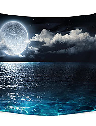 cheap -Wall Tapestry Art Decor Blanket Curtain Picnic Tablecloth Hanging Home Bedroom Living Room Dorm Decoration Polyester Moon Clouds Sea Night Views