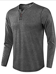 cheap -premium quality thermal henley crew neck long sleeve t-shirt charcoal 2xl
