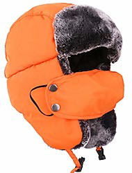 cheap -orange ushanka russian snow winter hunting fur hat