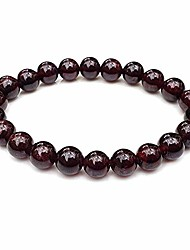 "cheap -chengmu 8mm amethyst stretch bracelet for women men natural handmade round beads semi precious gemstone for crystal elastic beaded bracelet 7"" unisex"