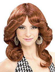cheap -women's 70's disco doll costume wig, auburn, one size