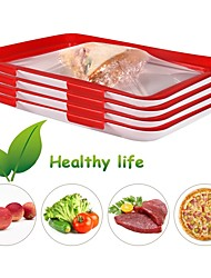 cheap -2-Piece Air Tight Tray Refrigerator Wrap Tray Food Preservation Meal Prep Fresh Keeping Tray