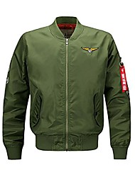 cheap -batuos men's classic military lightweight air force bomber flight jacket