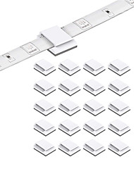 cheap -1set 50PCS 20PCS LED Strip Clips Self Adhesive LED Light Strip Mounting Bracket Clips Holder Cable Clamp Organizer for 10mm Wide IP65 Waterproof 5050 3528 2835 5630 LED Strip Light