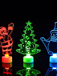cheap -Creative Colorful Luminous Christmas Tree Decorations Christmas Snowman Santa Claus Nightlight Gifts Christmas Decorations