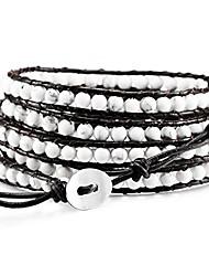 cheap -layered bracelets for women men boys girls genuine leather bracelet rope bangle cuff gemstone beads braided bracelet 5 wraps adjustable handmade oriental agate meditation jewelry gift