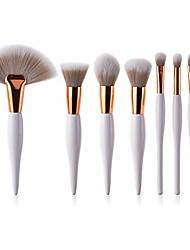 cheap -jinhua makeup brush 8 pcs eye shadow foundation blending contouring blushing highlight concealer professional powder liquid cosmetics makeup brushes set (white) (color : white)