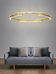 cheap -80cm LED Circle Pendant Light Gold Luxury Chandelier Aluminum Anodized Island Living Room Dining Room