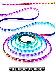 cheap -5M 2.5M 1M LED IC Digital Strip Light LED Strip Pixel Strings Rope DC 12V 300LEDs 150LEDs 60LEDs 5050 RGB Color WS2811 Programmable and Addressable Tube Waterproof IP67 White PCB