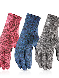 cheap -Winter Bike Gloves / Cycling Gloves Touch Gloves Anti-Slip Windproof Warm Full Finger Gloves Sports Gloves Fleece Black Blue Pink for Adults' Outdoor Exercise Cycling / Bike