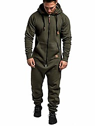 cheap -men's one piece pajamas,mens jumpsuit autumn winter casual hoodie onesies rompers long playsuit drawtsring hooded full zip one piece lightweight jogging tracksuit with pockets (green, xl)
