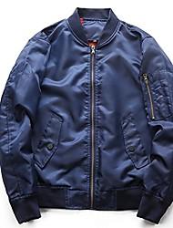 cheap -men's casual zipper air force baseball bomber jacket coats outerwear ma-1 flight jacket 5xl blue