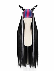 cheap -anime mioda ibuki cosplay wigs 100cm long straight mixed color wig women girls' party wigs