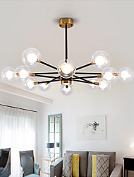 cheap -6/8/10/12 Heads LED Pendant Light Chandelier Double Layer Magic Bean Transparent Glass Lamp Nordic Living Room Rrosted Chandelier Modern Dining Room Lamp Bedroom Living Room
