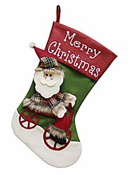 cheap -lovely big christmas stocking snowman santa claus elf candy gift bag xmas tree hanging decor sock (a)