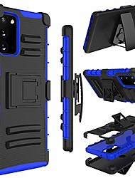 cheap -galaxy note 20 case, holster heavy duty shockproof full-body protective hybrid case cover with swivel belt clip and kickstand for samsung galaxy note 20 6.7inch (blue)