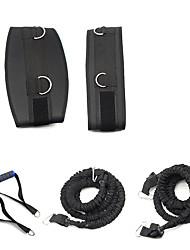 cheap -Resistance Band Set Suspension Trainer Basic Kit Resistance Band / Exercise Tube Resistance Bands 2 Exercise Handles Adjustable Waist Belt Sports Latex EVA Home Workout Exercise & Fitness Basketball