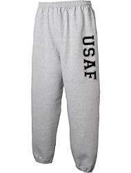 cheap -usaf air force military style physical training sweat pants in gray - xx-large