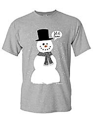 cheap -let it snow t-shirt funny snowman christmas xmas cotton tee sport gray 2xl