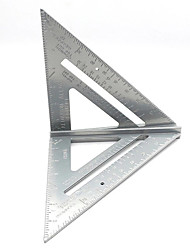 cheap -7 Inch Aluminum Alloy Measuring Ruler Gauges Speed Square Roofing Triangle Angle Protractor Trammel Measuring Tools
