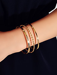cheap -Women's Bracelet Bangles Stacking Stackable Fashion Fashion Rhinestone Bracelet Jewelry Rose Gold / Gold For Birthday