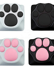 cheap -Personality Customized ABS Silicone Kitty Paw Artisan Cat Paws Pad Keyboard keyCaps for Cherry MX Switches