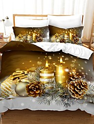 cheap -Christmas Tree Print 3-Piece Duvet Cover Set Hotel Bedding Sets Comforter Cover with Soft Lightweight Microfiber For Holiday Decoration(Include 1 Duvet Cover and 1or 2 Pillowcases)