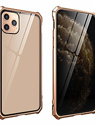 cheap -compatible with iphone 11 pro max aluminum bumper case cover,luxury metal frame design case hd clear tempered glass back full body protective cover compatible with iphone 11 pro max 6.5""