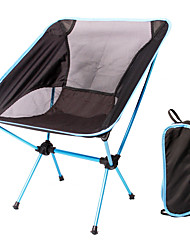 cheap -KORAMAN Camping Chair Portable Aluminum Alloy Oxford for 1 person Fishing Hiking Camping Traveling Spring Summer Orange Green Sky Blue