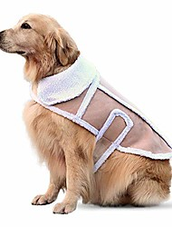cheap -dog coats & jackets for winter, cold and bad weather, 100% fleece super warm, lightweight, small to x-large, beige large