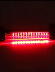 cheap -2Pcs Universal 24-LED Car Rear Window High Mount 3rd Brake Fog Stop Light Assembly Red Tail Lamp Bar
