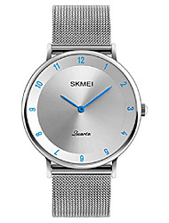 cheap -simple design stainless steel mesh strap waterproof watches ultra thin dial business watches for mens (blue)