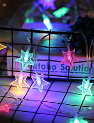 cheap -3M 6M 10M Snowflake String Lights Christmas Tree Stars Fairy Garlands Curtain light Outdoor for Xmas Party New Year's decor