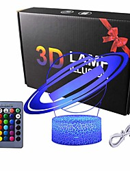 cheap -Solar System 3D Optical Illusion Lamp Universe Space Galaxy Night Light for Kids Boys and Girls as on Birthdays or Holidays (Solar System)