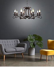 cheap -8-Light 79 cm Candle Style Chandelier Metal Modern Contemporary 110-120V 220-240V