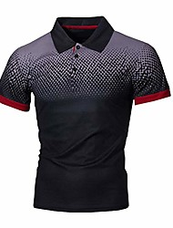 cheap -men's short sleeve polo shirt breathable and perspiration casual slim fit polo four colors (black,medium)