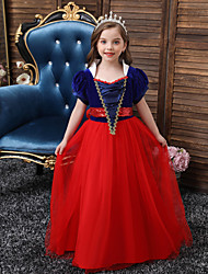 cheap -Princess Flapper Dress Dress Party Costume Girls' Movie Cosplay Cosplay Costume Party Yellow Red Blue Dress Christmas Children's Day New Year Polyester Organza