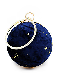 cheap -Women's Bags Polyester Alloy Evening Bag Crystals Stars Rhinestone Wedding Bags Wedding Party Black Blue Blushing Pink Beige