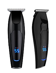 cheap -LCD Digital Display Hair Clipper Gradient Rechargeable Retro Oil Head Hair Clipper Hair Salon Powerful Hair Clipper