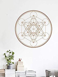 cheap -Geometric Circular Hexagonal Composite Cube Pattern Yoga Studio Creative Decorative Wall Stickers 42*42CM