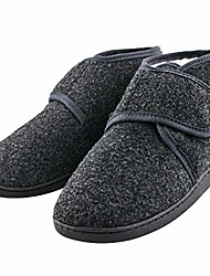 cheap -mens house slippers warm fuzzy slippers for men memory foam mens winter slippers house shoes diabetic bedroom slippers for men cozy adjustable bootie slippers grey eu43,men's us10
