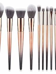 cheap -10pcs professional fantasy make up brush set foundation blending blush concealer eye shadow face liquid powder cream makeup brushes yjxhhx (color : gold, size : free)